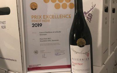Prix excellence pour notre Pinot Noir