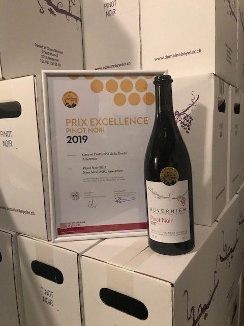 Prix excellence pour notre Pinot noir 2017
